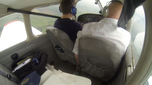 Screenshot taken from GoPro recording in-flight