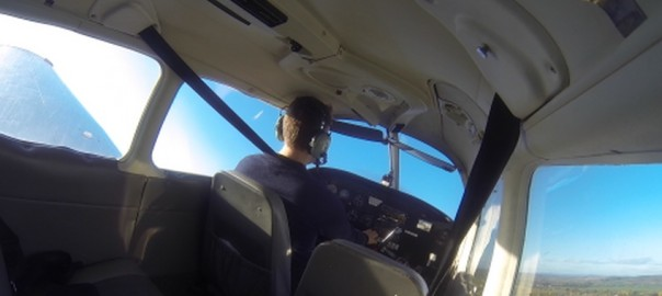 I'm flying - alone!